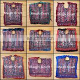 Traditional Hand Embroidered Yock Neck Patch- Vintage Banjara Boho Yock Neck- Gypsy Bohemian Yock Neck Patch