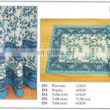 HAND BLOCK PRINTED TABLE CLOTH MAT & NAPKIN