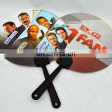 promotion round hand held fan