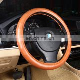 Soft Sheepskin Leather Steering Wheel Cover