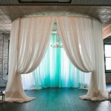 RK trade show balckdrop pipe and drape velvet drape from RK for sale