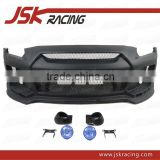 2008-2013 JSK STYLE CARBON FIBER FRONT BUMPER WITH FOG LIGHT FOR NISSAN R35 GTR (JSK220910)