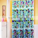 2016 Hot design flower printed polyester shower curtain, waterproof mildew-resistant bathroom curtain