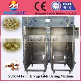 Fruits and vegetables drying oven/hot air drying box with trolley inside to dry apple, date, carrots