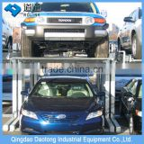 homemade hyrdraulic vertical car parking system for warehouse