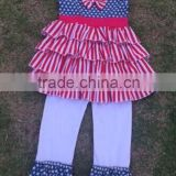American Girls 4th July Wear Outfits For New Baby Girls Ruffles Short Sets In Fashion Latest Design Girl Summer Sets