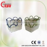 1 pc Iron frame &paper rope basket , gift&decoration basket, storage basket with handle