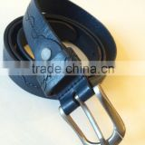 Cowboy Style Used Leather Belt Guangzhou Factory Vintage Men's Buckle Belt