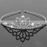 Tiara, Hair Accessory Wedding Tiaras, Silver Crystal Wholesale Crowns and Tiaras Customized PT3010