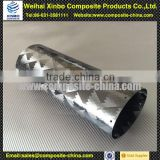Carbon fiber exhaust pipe wholesale muffler pipe with 3K twill surface finish