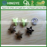 Star Shape Zinc Alloy Cap Metal Rivets --- RZ1412002