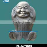 Black Stone Laughing Budda Statue