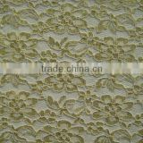nylon and metallic yarn on lace fabric for ladies dress clothing                                                                         Quality Choice