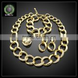 Hot Sale African REAL 24K GOLD PLATED Jewelry Set Wedding Jewelry set Big Jewelry set BHK645