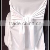 polyester universal chair covers white color / wedding jacquard chair cover / salon chair cover