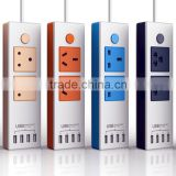 floor electric socket outlet,multi port travel socket,multiple power socket with phone charger