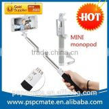 2015 Hot selling Mini Bluetooth Extendable Tripod Monopod Stick Selfie Pole For Mobile phones