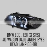 [AUTO LAMP] BM E90 / E91 3Series - LED Dual Angel Eyes Projector Headlights Set(no.6487)
