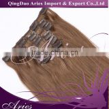 Hot Brazilian Straight One Piece Clip In Human Hair Extensions Cheap 100% Human Hair Clip In