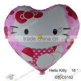 2016 different shape hello kitty balloon hot sale cartoon helium balloon