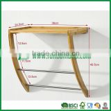 Fuboo--Bamboo wall mounting shelf with towel bars