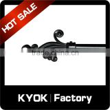 KYOK finger design black series window decorative curtain finials ,fancy curtain finails