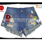 New sweat ladies Hot personalized Shorts raw Ripped Fringed Denim Shorts Jeans pants women