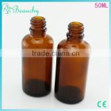 beauchy 2015 factory price 50ml amber glass oral liquid bottle with aluminum cap