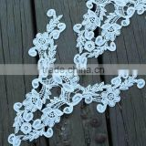 Fashion Milk Protein Fiber Water-soluable Embroidery Lace Collar for Garment Accessories