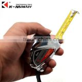 K-Master manufacturer 3m tape measure chrome plating metric/inch tape construction carpenter steel measure tape