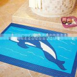 Heat printed Vinyl Foam Bathroom Mat,bath area rug