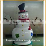 Antique Brass Large Snowman Decoration Sculpture for Sale
