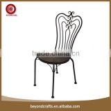 High level popular good quality wrought iron restaurant chair