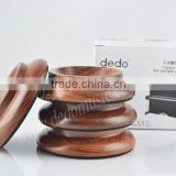 High Quality 4pcs set Load Bearing Rose wood Sturdy Durable Piano Caster Cups Upright Vertical Piano Caster Pad