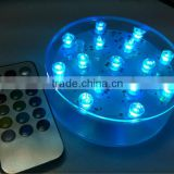 4 inch Remote control LED colorful vase light for wedding centerpiece decoration.