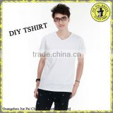 Custom V-neck Low Price Promotion Transfer Print Blank Mens tee shirts                                                                         Quality Choice