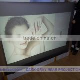 Dark grey color rear screen film semitransparent projection screen fabric ,holographic Projection screen for window advertisig!!