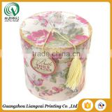 Competitive price bio-degradable large round cardboard box decorative round cardboard boxes for gift packing