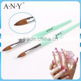 ANY Nail Art Care Pure Sable Nail Brushes for Acrylic Extension Nails