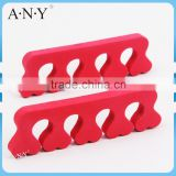 Professional Nail Art Tool Red Sponge Toe Separator Heart Shape