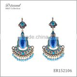 Wholesale Jewelry Yiwu Factory Ladies/Women's Ethnic Beaded Resin Earrings Dangle Earrings Tassels Drop Earrings