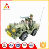 Intelligent most popular plastic assemble car military toys play set