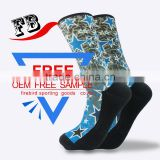 fashion socks for printing knitted custom print socks knee high cartoon sublimation printing open toe compression socks