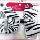 Animal Printing Black and white hair bow(approved by BV)