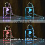 Professional manufacturer light up keychain custom made crystal keychain led light for gifts