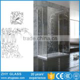 Frameless Tempered Glass Bathroom Window Glass Types