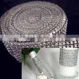 Silver sparkle diamond mesh wrap roll sparkle rhinestone Crystal Ribbon decoration, wedding cake decoration, candle decoration