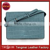Newest arrival 100% genuine leather hangbags woman handbag 2014 leather handbag factory
