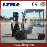 Four wheel electric forklift 3 ton battery forklift truck                                                                         Quality Choice