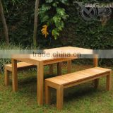 Teak Outdoor Patio Dining Table And Bench Sets VXS 016